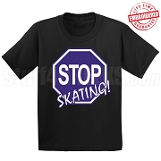 Stop Skating! T-Shirt, Royal/White - EMBROIDERED with Lifetime Guarantee