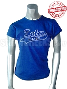 Zeta Phi Beta Till I Die T-Shirt, Royal Blue - EMBROIDERED with Lifetime Guarantee