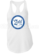 Zeta Phi Beta Way Racerback Shirt, White (AB)