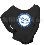 Zeta Phi Beta Way Long Sleeve Shoulder Shirt, Black (BB)