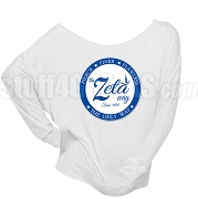 Zeta Phi Beta Way Long Sleeve Shoulder Shirt, White (BB)