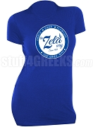 Zeta Phi Beta Way Scoop Neck T-Shirt, Royal Blue (AB)