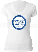 Zeta Phi Beta Way V-Neck Shirt, White (AB)