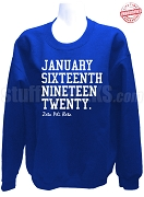 Zeta Phi Beta Founding Date Sweatshirt, Royal Blue - EMBROIDERED with Lifetime Guarantee