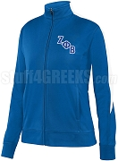 Zeta Phi Beta Logo Track Jacket, Royal/White (AUG)