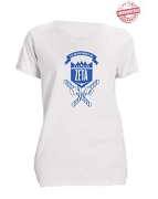 Zeta Phi Beta School Daze T-Shirt, White - EMBROIDERED with Lifetime Guarantee