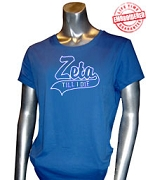 Zeta Till I Die T-Shirt, Royal - EMBROIDERED with Lifetime Guarantee