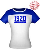 1920 Zeta Phi Beta Ladies Fitted Tee - EMBROIDERED with Lifetime Guarantee