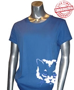 Zeta Phi Beta Mascot #2 T-Shirt, Royal - EMBROIDERED with Lifetime Guarantee
