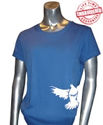 Zeta Phi Beta Mascot #1 T-Shirt, Royal - EMBROIDERED with Lifetime Guarantee