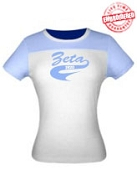 Zeta 1920 Ladies Fitted Tee - EMBROIDERED with Lifetime Guarantee