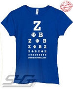 Z-Phi-B Is All I See, Royal - EMBROIDERED with Lifetime Guarantee