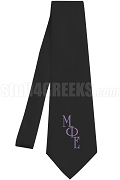 Mu Phi Epsilon Necktie with Greek Letters, Black