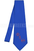 Phi Alpha Theta Necktie with Greek Letters, Royal Blue