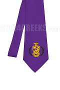 Phi Sigma Pi Necktie with Crest, Purple