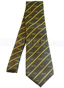 Iota Phi Theta Necktie with Greek Letters and Founding Year, Brown/Gold