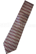 Kappa Alpha Psi 1911 Diamond Print Necktie, Crimson/White - Sold Out