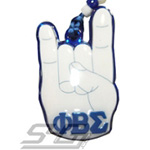 Phi Beta Sigma Hand Sign Tiki Necklace