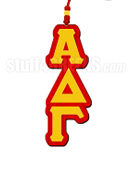 Alpha Delta Gamma Greek Letter Tiki Necklace