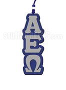 Alpha Epsilon Omega Greek Letter Tiki Necklace