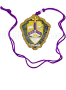 Alpha Kappa Lambda Tiki Necklace with Crest