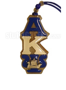 Alpha Kappa Psi Tiki Necklace with Greek Letters and Phoenician Galley