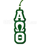Alpha Omega Theta Christian Fraternity Greek Letter Tiki Necklace