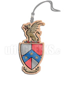 Beta Theta Pi Tiki Necklace with Crest