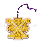 Chi Psi Tiki Necklace with Crest