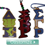 Custom Greek Letter Tikis