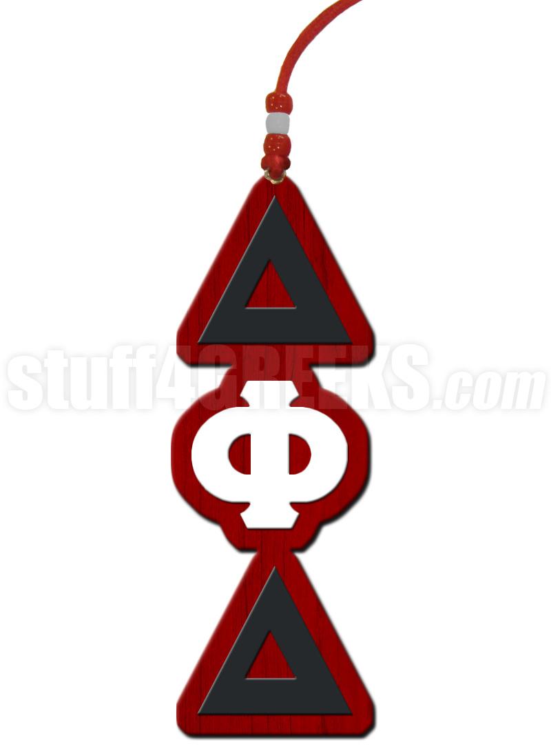 Delta Phi Delta Greek Letter Tiki Necklace