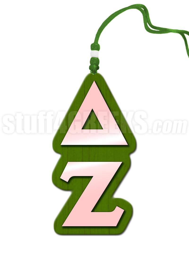 Delta Zeta Greek Letter Tiki Necklace