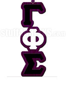 Gamma Phi Sigma Greek Letter Tiki Necklace