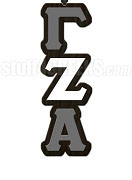 Gamma Zeta Alpha Greek Letter Tiki Necklace