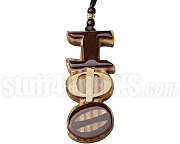 Iota Phi Theta Greek Letter Tiki Necklace, Wood