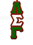 Lambda Sigma Gamma Greek Letter Tiki Necklace