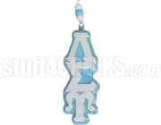 Lambda Sigma Upsilon Greek Letter Tiki Necklace, Baby Blue