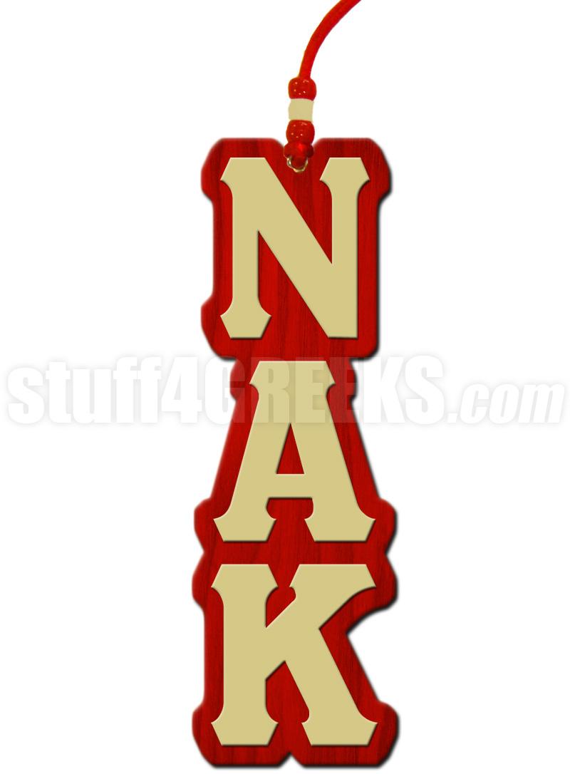 Nu Alpha Kappa Greek Letter Tiki Necklace
