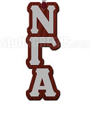 Nu Gamma Alpha Greek Letter Tiki Necklace