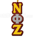 Nu Phi Zeta Greek Letter Tiki Necklace