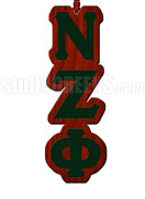 Nu Zeta Phi Greek Letter Tiki Necklace
