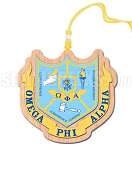 Omega Phi Alpha Crest Tiki Necklace