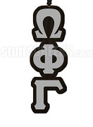 Omega Phi Gamma Greek Letter Tiki Necklace