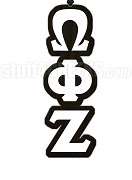 Omega Phi Zeta Greek Letter Tiki Necklace