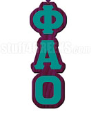 Phi Alpha Omicron Greek Letter Tiki Necklace