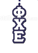 Phi Chi Epsilon Greek Letter Tiki Necklace