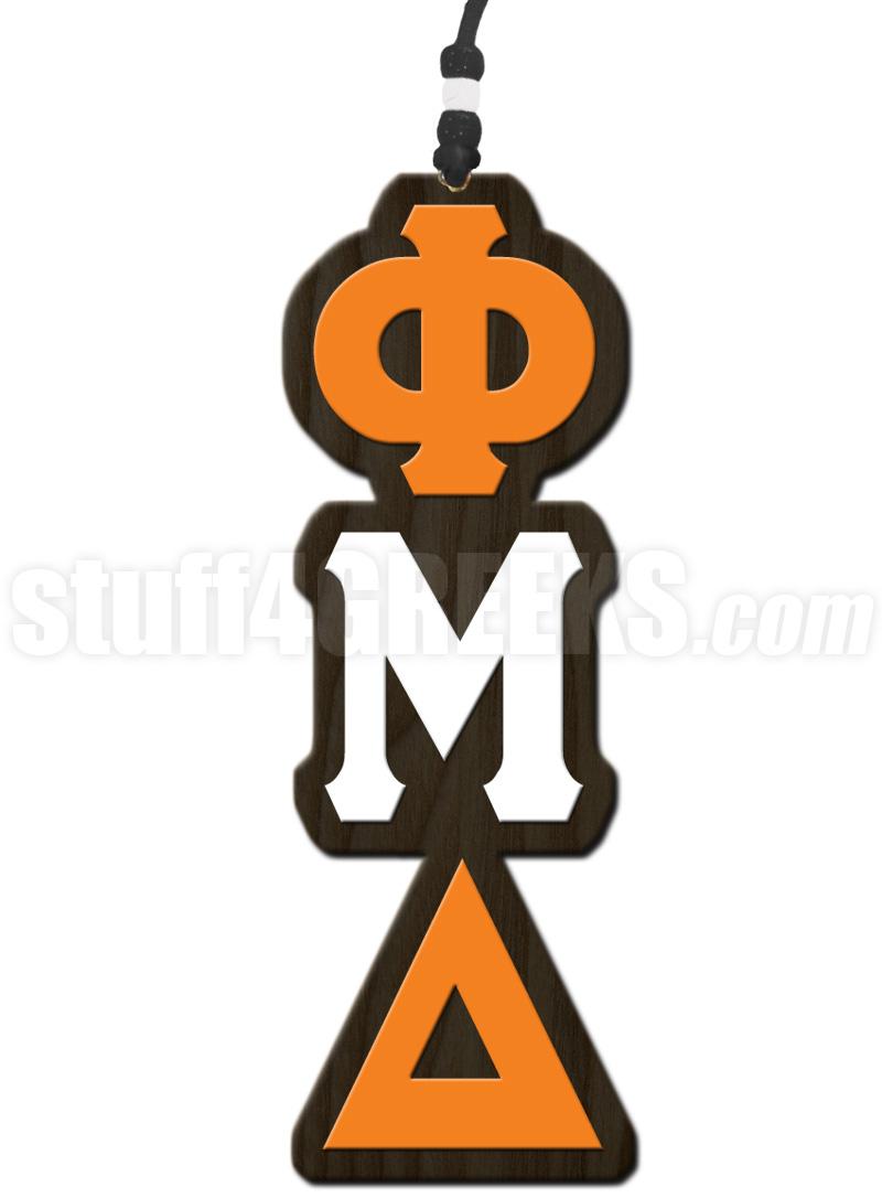 Phi Mu Delta Greek Letter Tiki Necklace