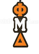 Phi Mu Delta Greek Letter Tiki Necklace