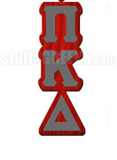 Pi Kappa Delta Greek Letter Tiki Necklace
