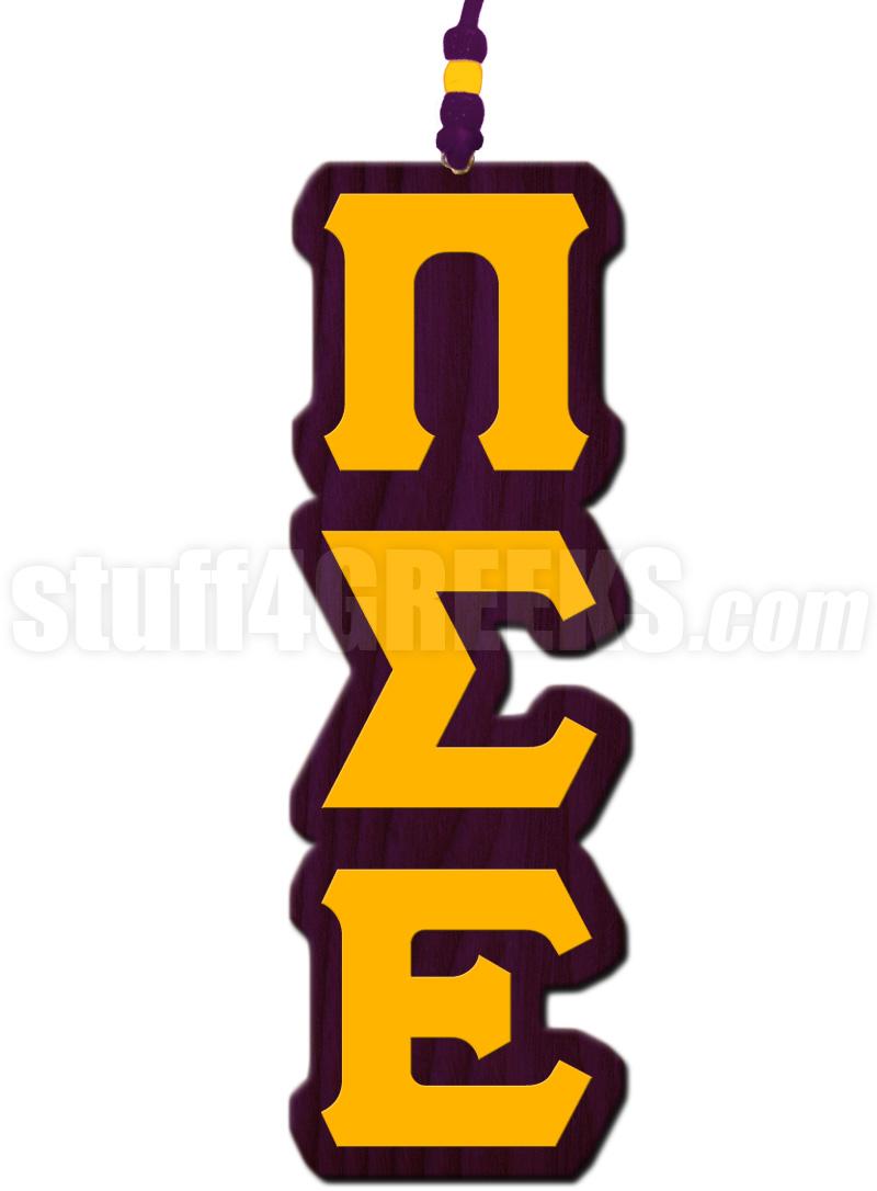 Pi Sigma Epsilon Greek Letter Tiki Necklace